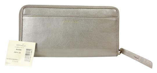"Cole Haan Cole Haan ""Brennan"" Continental Zip Around Wallet - Pearlescent Grey"