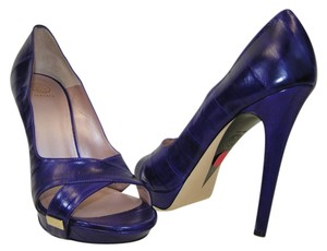 Versace Blue Pumps