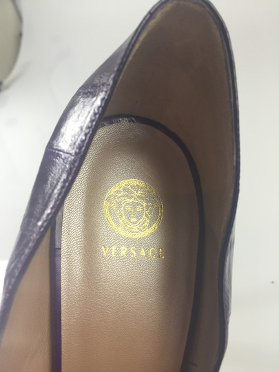 Versace Purple Pumps