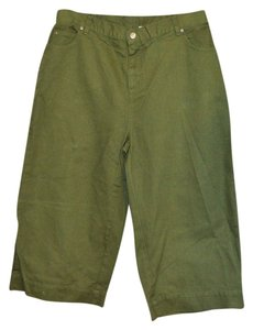 Roaman's Wide Leg Pants Green