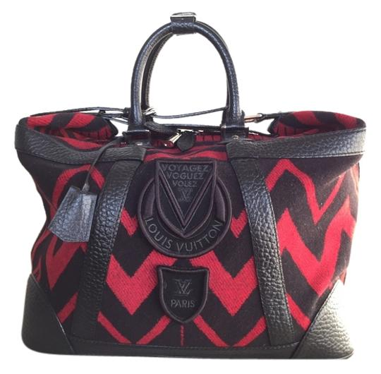 Preload https://item2.tradesy.com/images/louis-vuitton-vail-blanket-grimaud-extremely-rare-red-and-black-cashmere-wool-weekendtravel-bag-3745696-0-0.jpg?width=440&height=440