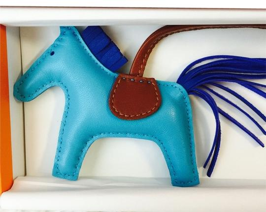 Hermès Hermes Rodeo House Bag Charm Pm Size In Blue