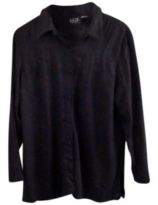 Other Rayon Button Down Shirt black