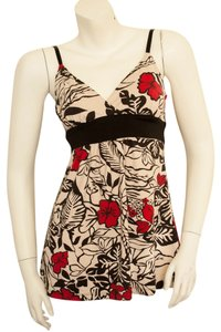 No Boundaries Halter Flower Flowered Floral Flowers Hawaiian Hawaii Hipster Hippie Hippy Boho Cochella V-neck Ballet Mock Wrap Gypsy Top beige, black, red