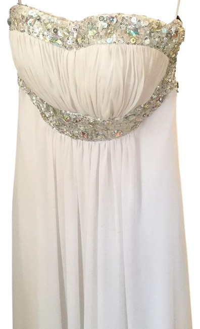 Preload https://item5.tradesy.com/images/whitesilver-night-out-dress-size-0-xs-3746674-0-2.jpg?width=400&height=650