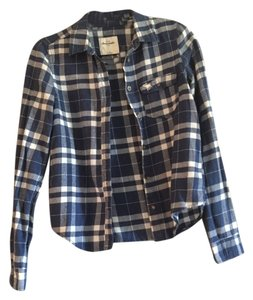 abercrombie kids Shirt Flannel Button Down Shirt Blue Plaid