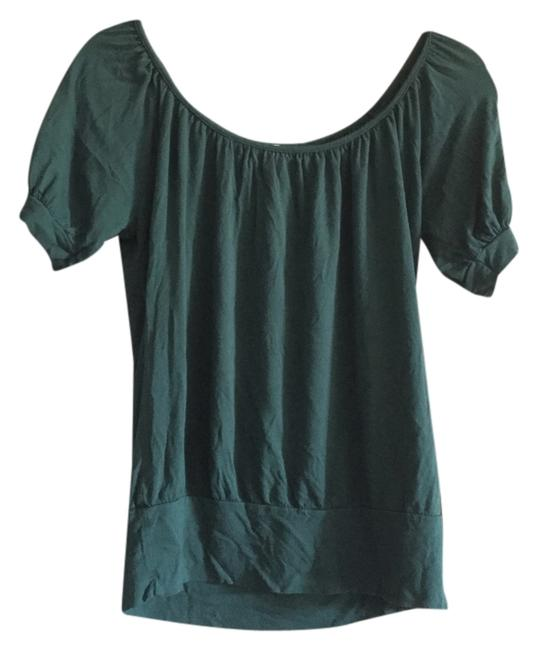 A'GACI Double Scoop Stretchy Shirt Casual Comfy Comfortable Top Green