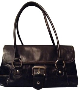 Giani Bernini Brown Leather Shoulder Bag