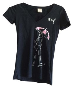 abercrombie kids Graphic Graphic V-neck T Shirt Navy