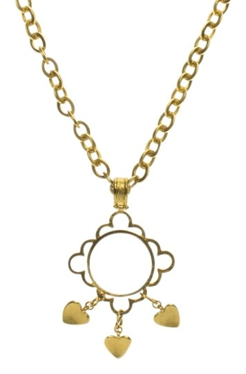 Chanel Chanel Vintage Magnifying Floral Glass Necklace