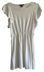 Charlotte Russe short dress Off White Flutter Sleeve Cotton on Tradesy