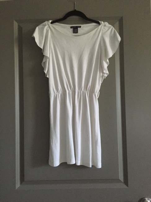 Charlotte Russe short dress Off White Flutter Sleeve Cotton Cute on Tradesy