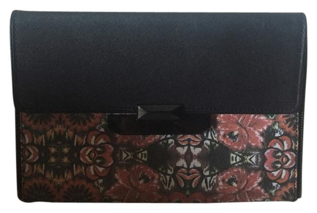 Item - Mexi Flower Snap Lock Multicolor Leather Clutch