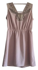 Ecote short dress Light Pink Studs Cut Out Chiffon on Tradesy