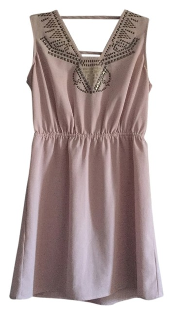 Preload https://item5.tradesy.com/images/ecote-light-pink-new-without-tags-studded-detail-cut-out-chiffon-mini-short-casual-dress-size-4-s-3747709-0-0.jpg?width=400&height=650