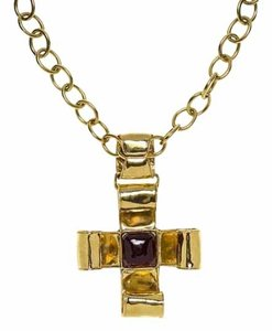 Chanel Chanel Vintage Gold Cross Necklace