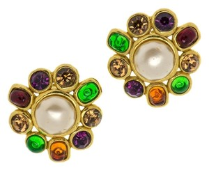 Chanel CHANEL VINTAGE PEARL GRIPOIX EARRINGS