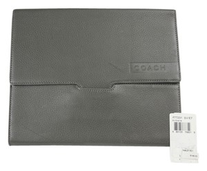 "Coach * Coach ""Camden"" Pebbled Tablet Sleeve F77231 - Granite Gray"