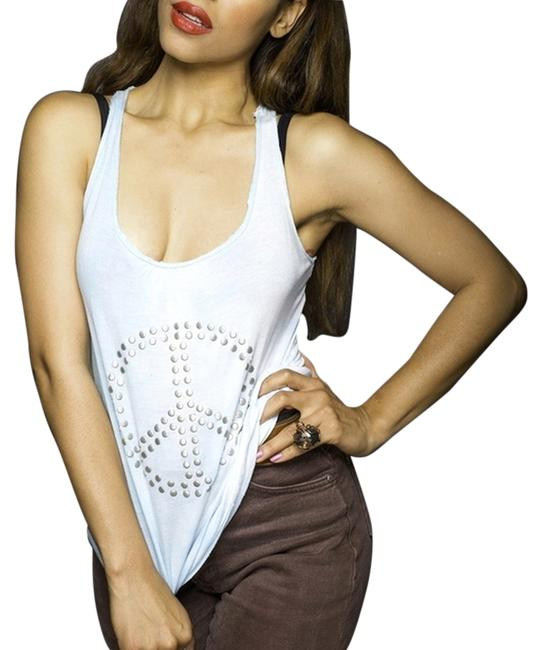 Max Rave Top baby blue, silver beads