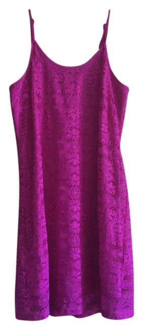 Preload https://item3.tradesy.com/images/love-fire-neon-purple-lace-mid-length-short-casual-dress-size-8-m-3747937-0-0.jpg?width=400&height=650