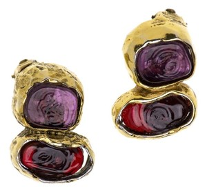 Chanel CHANEL GRIPOIX GLASS EARRINGS