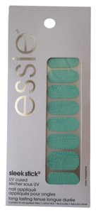 Essie #220 teal textured snakeskin nails