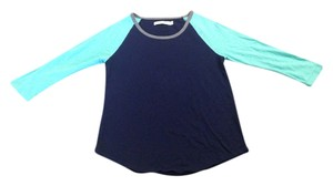 Madewell T Shirt Teal and Navy