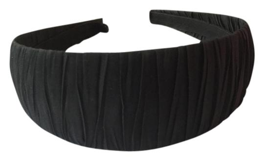 Other Wide Black Ruched Texture Headband
