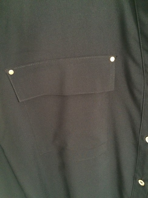 Calvin Klein Gold Button Down Shirt Top Black