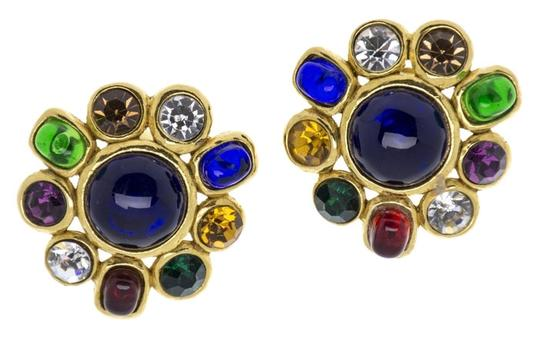 Chanel CHANEL VINTAGE POURED GLASS EARRINGS