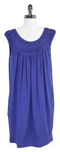 Vince short dress Purple Silk Sleeveless on Tradesy