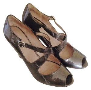 Nine West Pearl Grey Patent Pumps