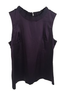 Ann Taylor Silk Sleeveless Medium Top Purple