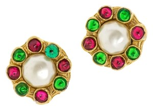 Chanel CHANEL GRIPOIX VINTAGE EARRINGS