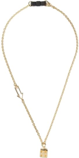 Marc Jacobs Marc by Marc Jacobs Gold Bow Tie with Dice Necklace