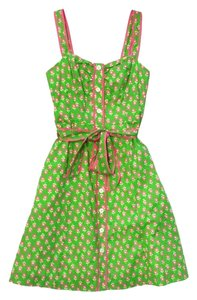 Lilly Pulitzer short dress Green & Pink Floral Cotton on Tradesy