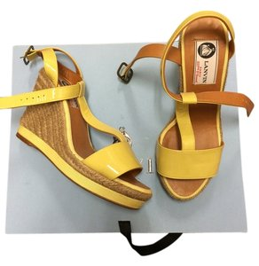 Lanvin Yellow Wedges