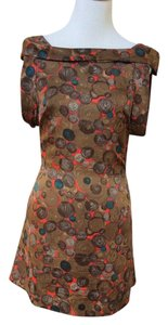 Collective Concepts short dress Browns & Orange on Tradesy