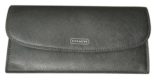 Preload https://item2.tradesy.com/images/coach-coach-saffiano-leather-darcy-soft-wallet-slim-silver-pewter-50428-3749161-0-2.jpg?width=440&height=440