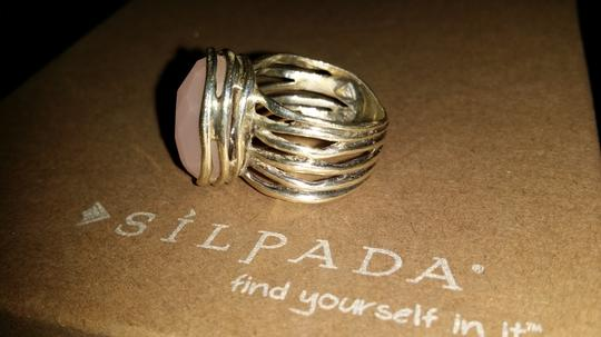 Silpada New Silpada Rose colored Glass Ring Size 6