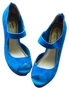 Seychelles Teal/blue Wedges