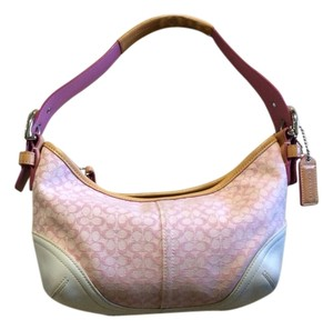 Coach Pink And White Clutch