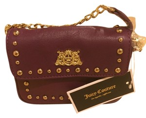 Juicy Couture Studded Mini Tough Girl Gold Hardware Cross Body Bag