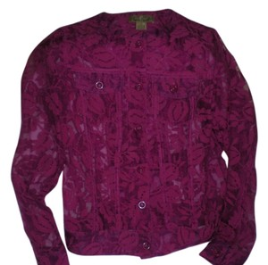 Peck & Peck Top Fuschia