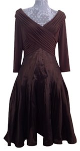 Tadashi Shoji short dress Brown on Tradesy