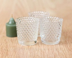 Clear Vintage Glass Candle Holders