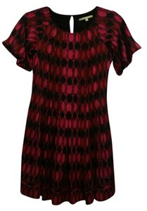 Gianni Bini short dress Red and Black on Tradesy