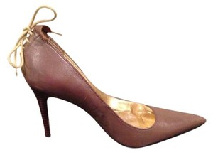 Charles David Leather Brown, Tan Pumps