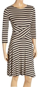 Beige by ECI Striped Figure-flattering Dress