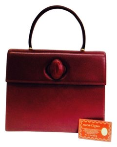 Cartier Vintage Leather Satchel in Burgundy